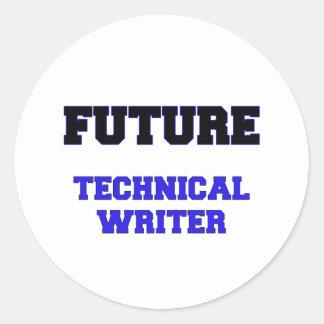Escritor técnico futuro etiqueta redonda
