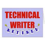 Escritor técnico jubilado felicitación