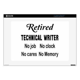 Escritor técnico jubilado ningún trabajo ningún portátil 38,1cm skins