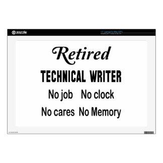 Escritor técnico jubilado ningún trabajo ningún skins para 43,2cm portátil