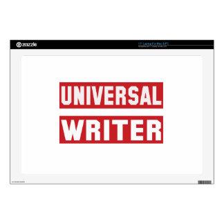 Escritor universal calcomanías para portátiles