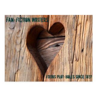Escritores de Fanfiction: Diagrama-agujeros de la Postal
