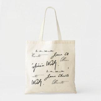 Escritores de las mujeres bolsa tela barata