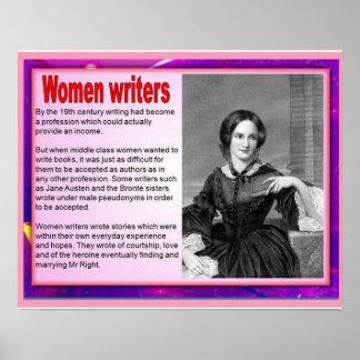 Escritores de las mujeres en el siglo XIX Póster