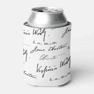 Escritores de las mujeres enfriador de latas