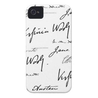 Escritores de las mujeres iPhone 4 Case-Mate protectores