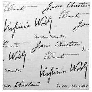 Escritores de las mujeres servilleta