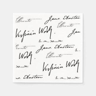 Escritores de las mujeres servilletas de papel