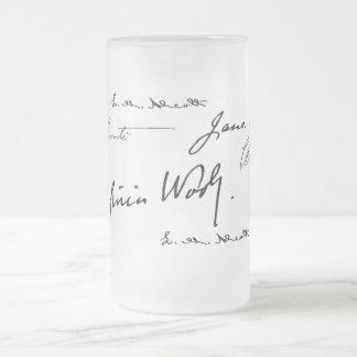 Escritores de las mujeres taza de cristal