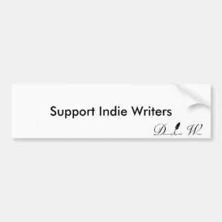 Escritores del indie de la ayuda pegatina para auto