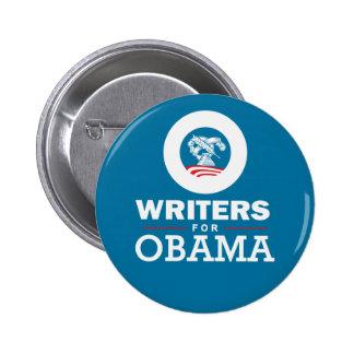 Escritores para Obama Pin