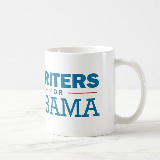 Escritores para Obama Taza De Café