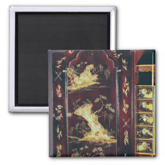 Escritorio adornado con la laca china imán