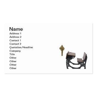 Escritorio de la escuela parroquial tarjetas de visita