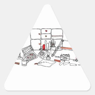 Escritorio del diseño - negro en blanco pegatina de trianguladas