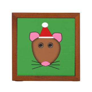 Escritorio del ratón de las Felices Navidad Organizador De Escritorio