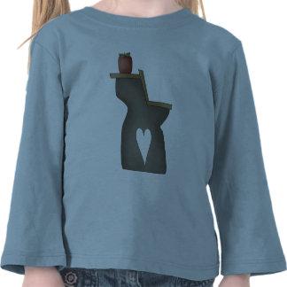 Escritorio y Apple de la escuela Camiseta
