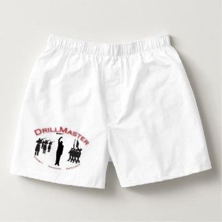 Escritos del boxeador de los hombres del logotipo calzoncillos