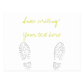 ¡Escritura amarilla de la nieve! Tarjeta Postal