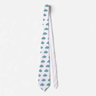 Escritura azul 70s retro del amor corbata