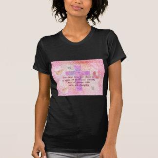 Escritura bíblica de la cita del 1:7 de 2 Timothy T-shirts