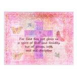 Escritura bíblica de la cita del 1:7 de 2 Timothy Postal