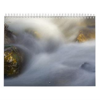 Escritura borrosa del agua 2015 calendarios