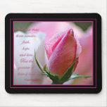 Escritura color de rosa Mousepad Tapete De Ratones