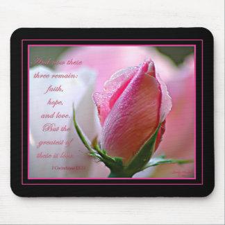 Escritura color de rosa Mousepad