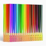 Escritura coloreada de los lápices