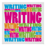 Escritura colorida poster