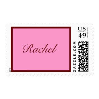 escritura conocida rosada y marrón personalizada envio