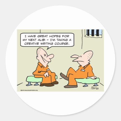 escritura creativa aliby del preso etiquetas redondas