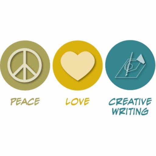Escritura creativa del amor de la paz esculturas fotograficas