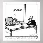 Escritura creativa en la declaración de impuestos poster