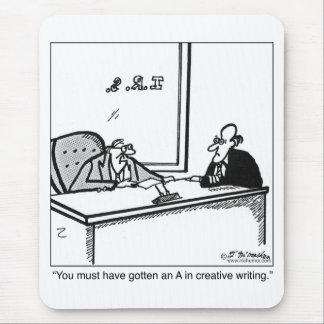 Escritura creativa en la declaración de impuestos tapete de raton