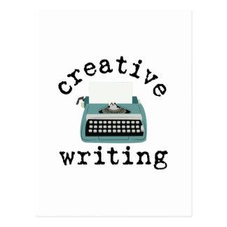 Escritura creativa tarjeta postal