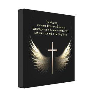 Escritura cristiana del personalizable del alcohol lona estirada galerías