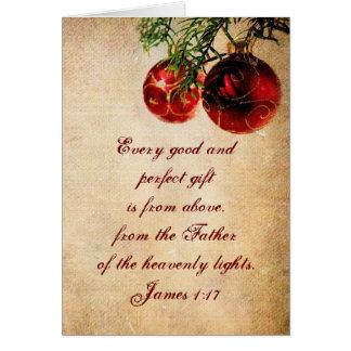 Escritura cristiana - tarjeta de Navidad modificad