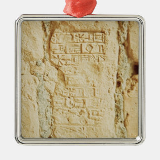 Escritura cuneiforme en una pared del palacio ornamento de reyes magos
