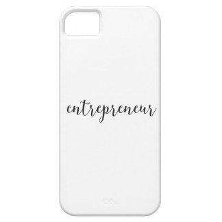Escritura cursiva del empresario iPhone 5 carcasa