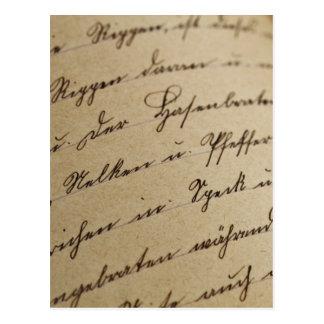 Escritura cursiva postales