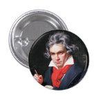 Escritura de Beethoven Pin Redondo De 1 Pulgada
