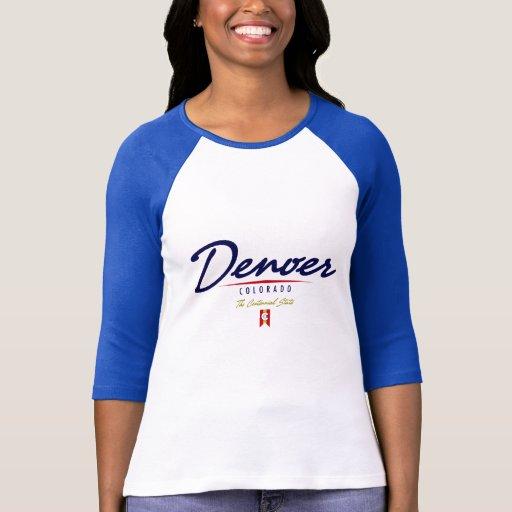Escritura de Denver Camiseta