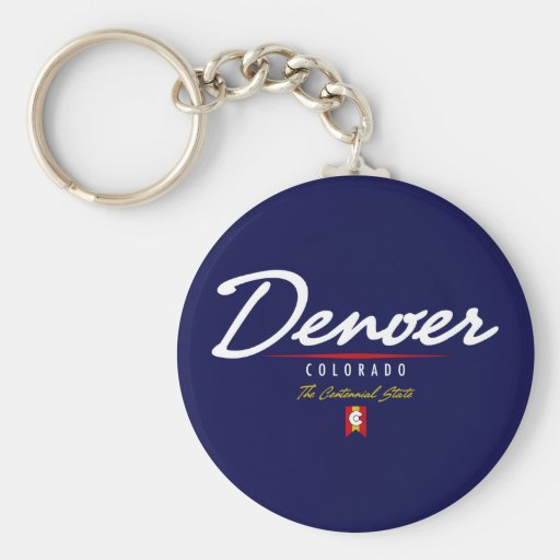 Escritura de Denver Llavero Redondo Tipo Pin