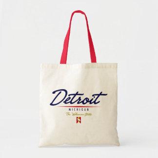 Escritura de Detroit Bolsa Tela Barata