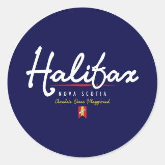 Escritura de Halifax Pegatinas Redondas