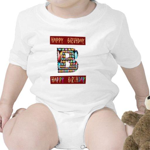 Escritura de HappyBirthday - alfabeto ALFA decorat Camisetas