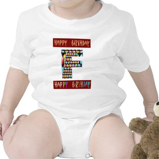 Escritura de HappyBirthday - alfabeto ALFA decorat Traje De Bebé