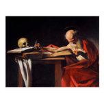 Escritura de Jerome del santo de Miguel Ángel Cara Tarjetas Postales